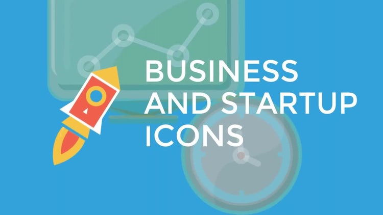 Business and Startup Flat Icons: Motion Graphics