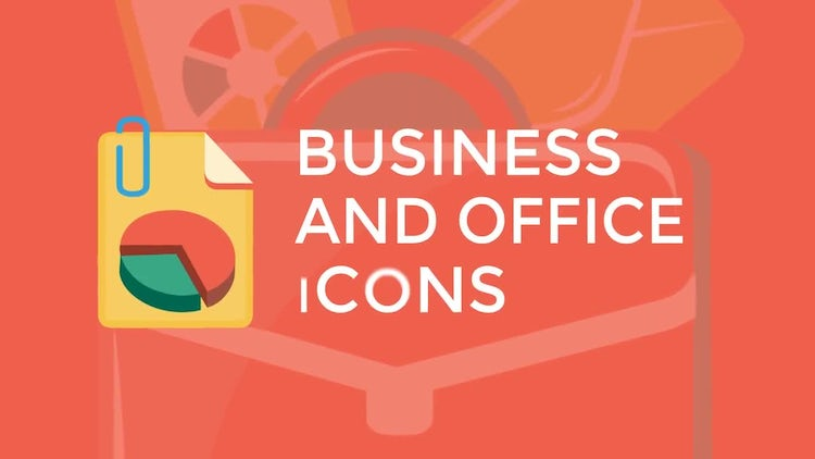 Business and Office Flat Icons: Stock Motion Graphics