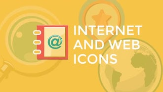 Internet and Web Flat Icons: Motion Graphics