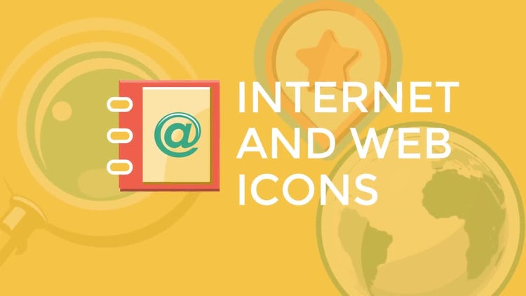 Internet and Web Flat Icons: Stock Motion Graphics