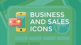 Business and Sales Flat Icons: Motion Graphics