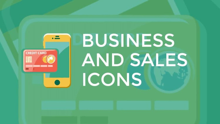Business and Sales Flat Icons: Stock Motion Graphics