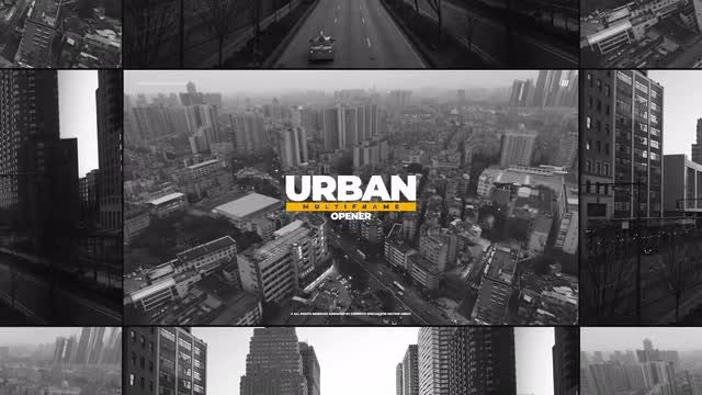 Urban Multiframe Opener: Premiere Pro Templates