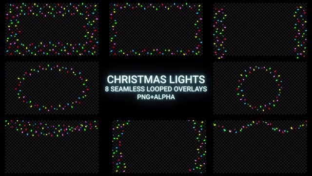 Christmas Lights Overlay Pack: Stock Motion Graphics