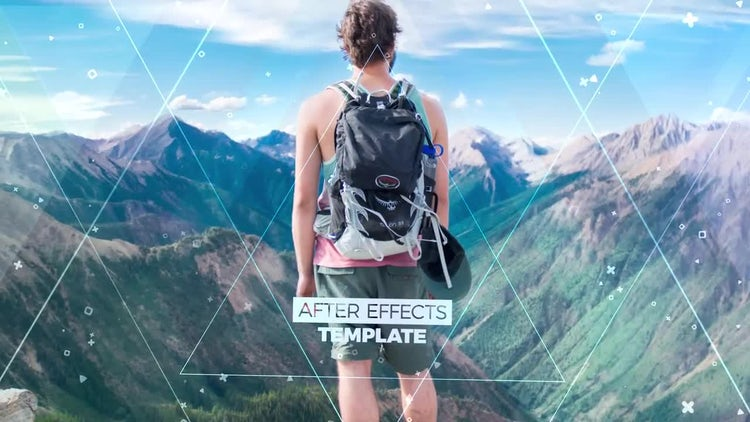 Сolorful Parallax Slideshow: After Effects Templates
