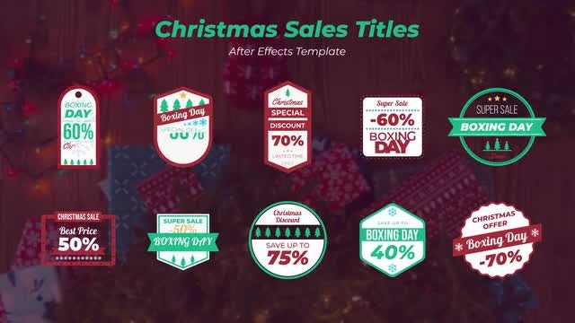 Christmas Sales Titles: After Effects Templates