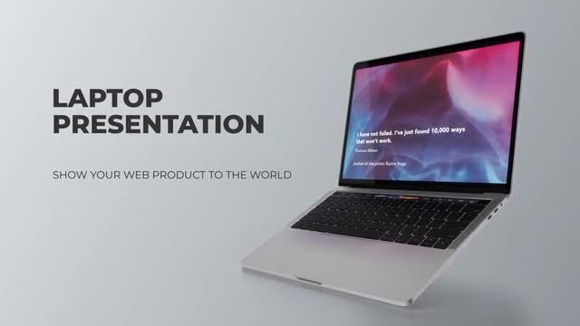 Laptop Presentation: After Effects Templates
