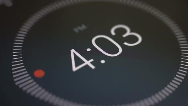 Time Lapse Of Digital Clock: Stock Video
