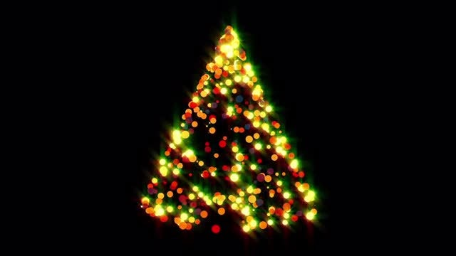 Glowing Dots Christmas Trees Pack: Stock Motion Graphics