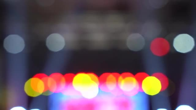 Bokeh Disco Lights: Stock Video