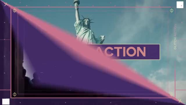 Glitch Action Slides: After Effects Templates