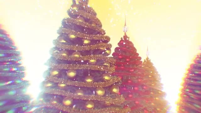 Rotating Christmas Trees Pack: Stock Motion Graphics