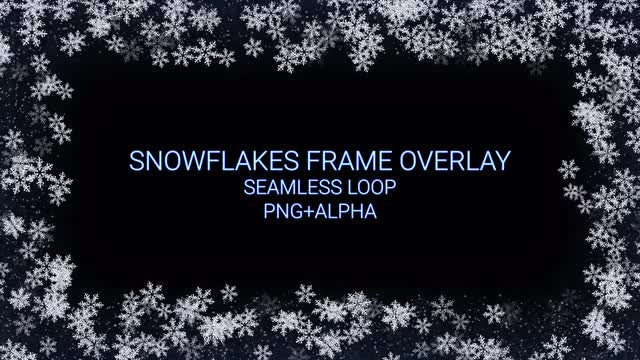 Snowflakes Frame Overlay: Stock Motion Graphics