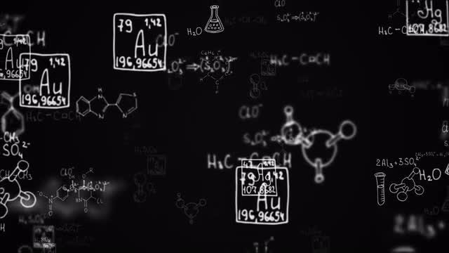 Different Chemistry Symbols: Stock Motion Graphics
