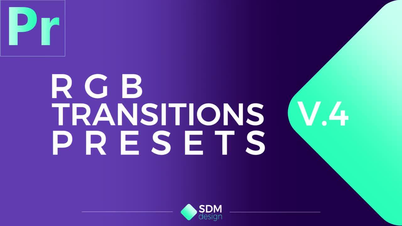 RGB Transitions Pack V 4 - Premiere Pro Presets | Motion Array