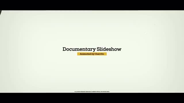 Documentary Slideshow: After Effects Templates