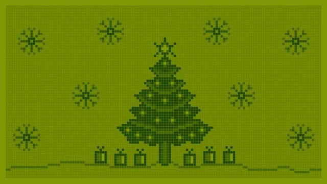 Christmas Background 8 bit: Stock Motion Graphics