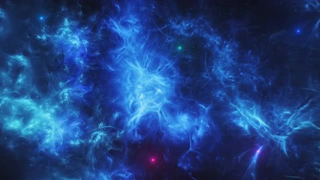 Abstract Colorful Space Scene: Stock Motion Graphics