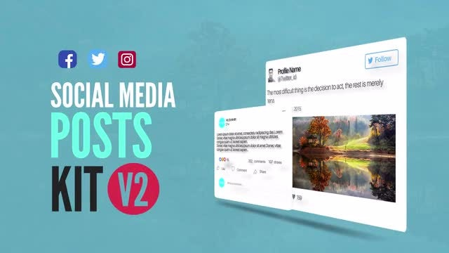 Social Media Animated Post Kit V2: After Effects Templates