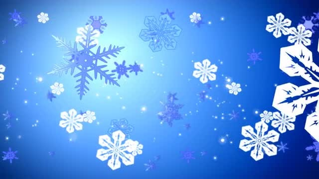 Snowflakes Float 4K Background: Stock Motion Graphics
