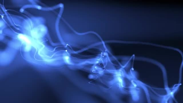 Blue Energy Wriggly Waves: Stock Motion Graphics