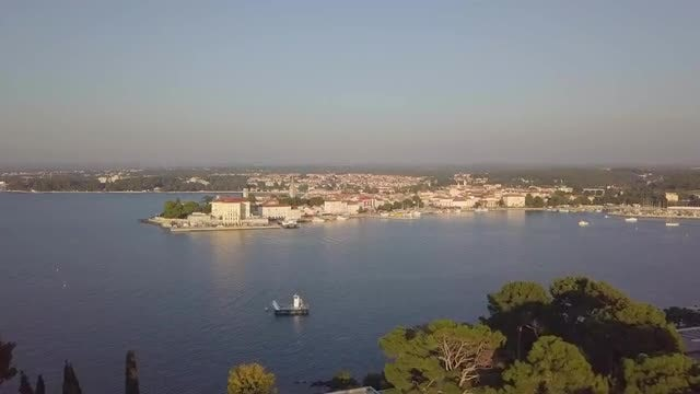 Aerial View Of Porec, Croatia: Stock Video