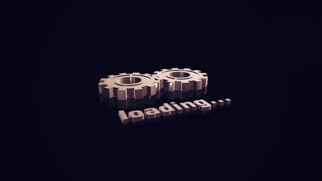 3D Gears Loading Background: Stock Motion Graphics
