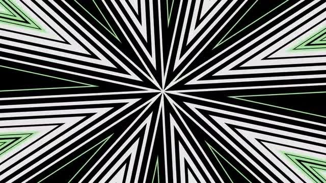 B/W Starburst Hypnotic Background  4K: Stock Motion Graphics