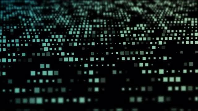 Flickering Digital Squares Grid: Stock Motion Graphics