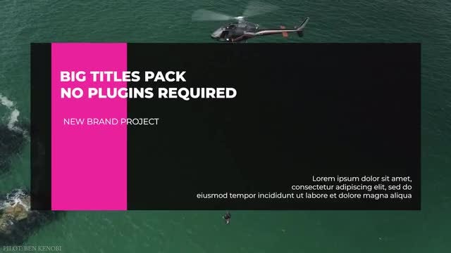 Big Titles Pack MA: Premiere Pro Templates