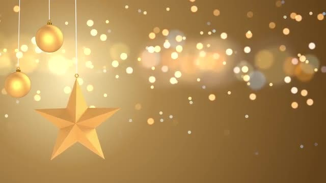 Golden Christmas Background: Stock Motion Graphics