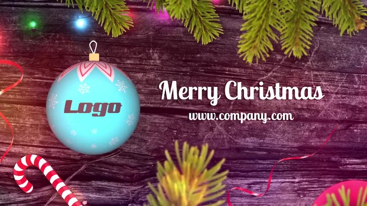 Christmas Ball Logo Reveal: After Effects Templates