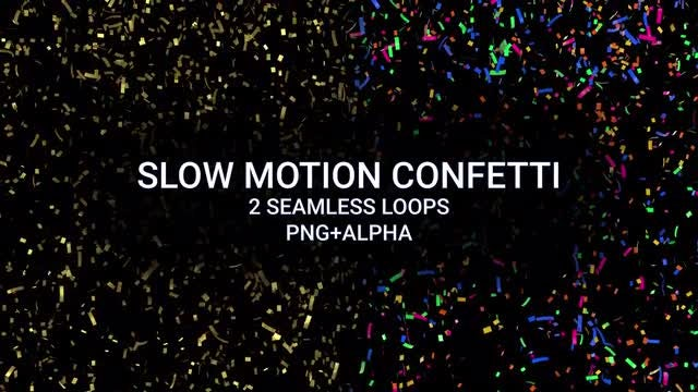 Slow Motion Confetti Pack: Stock Motion Graphics