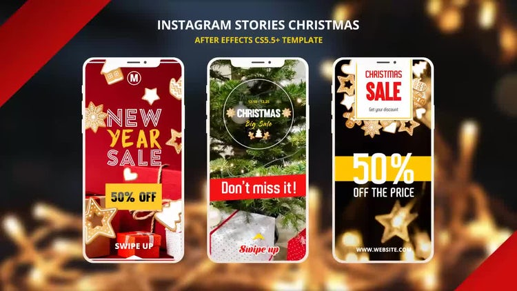 Instagram Christmas Stories: After Effects Templates