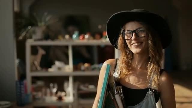 Portrait Of An Artist: Stock Video