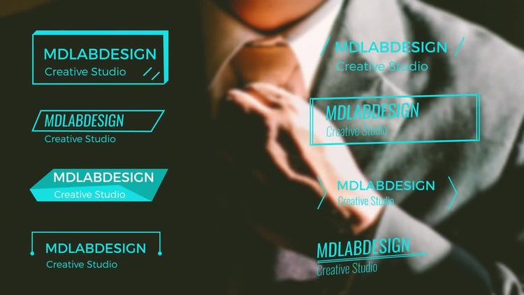 Easy Corporate Lower Thirds: After Effects Templates
