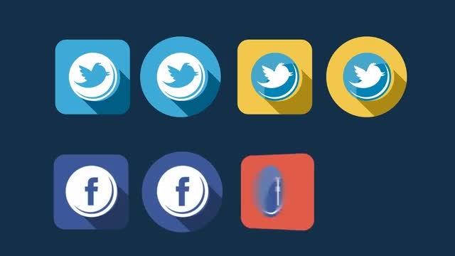 Social Icons: Stock Motion Graphics
