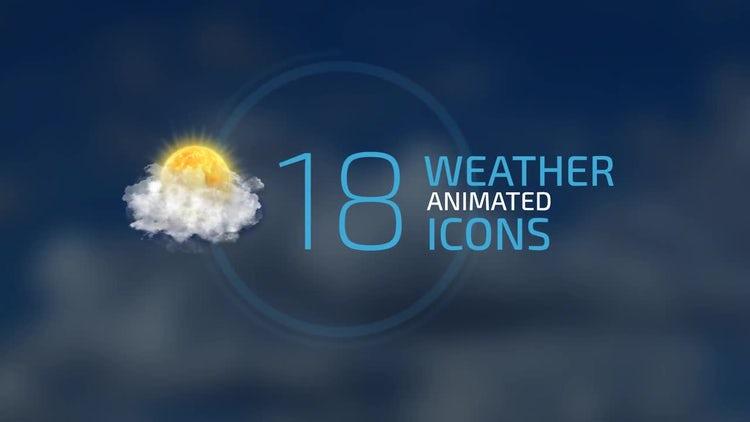 Weather Forecast Icons Set : Stock Motion Graphics