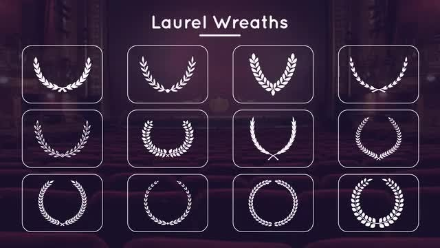 Laurel Wreaths Pack: Stock Motion Graphics