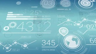 Financial data infographics: Motion Graphics
