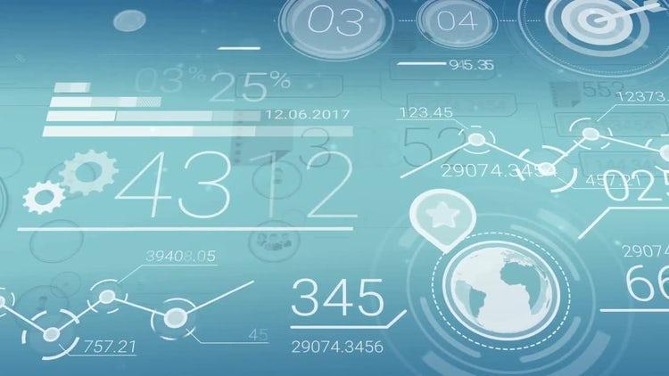 Financial data infographics: Stock Motion Graphics