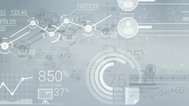 Financial data infographics: Stock Motion Graphics