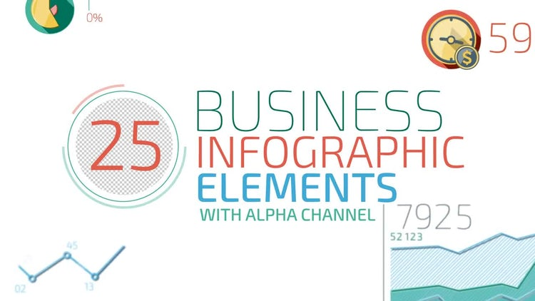 Abstract infographic elements: Stock Motion Graphics