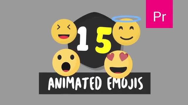 15 Animated Emojis: Motion Graphics Templates