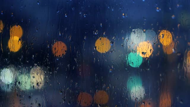 Raindrops On Window: Stock Video