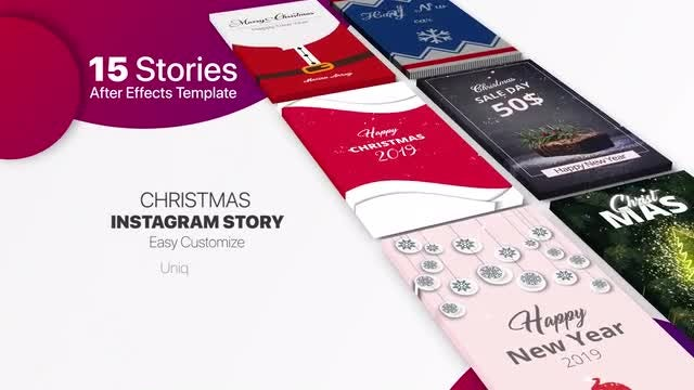 Christmas Instagram Story: After Effects Templates
