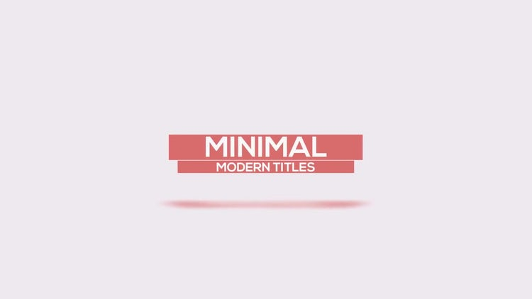 Clean Minimal Titles : After Effects Templates