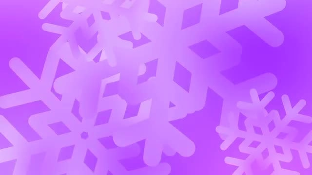 Upbeat Holiday Snowflakes Over Violet: Stock Motion Graphics