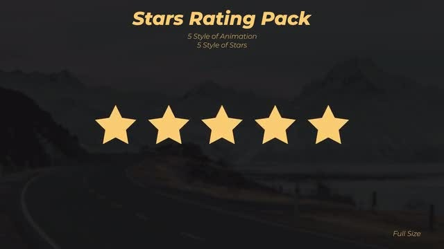 Stars Rating Pack: Stock Motion Graphics