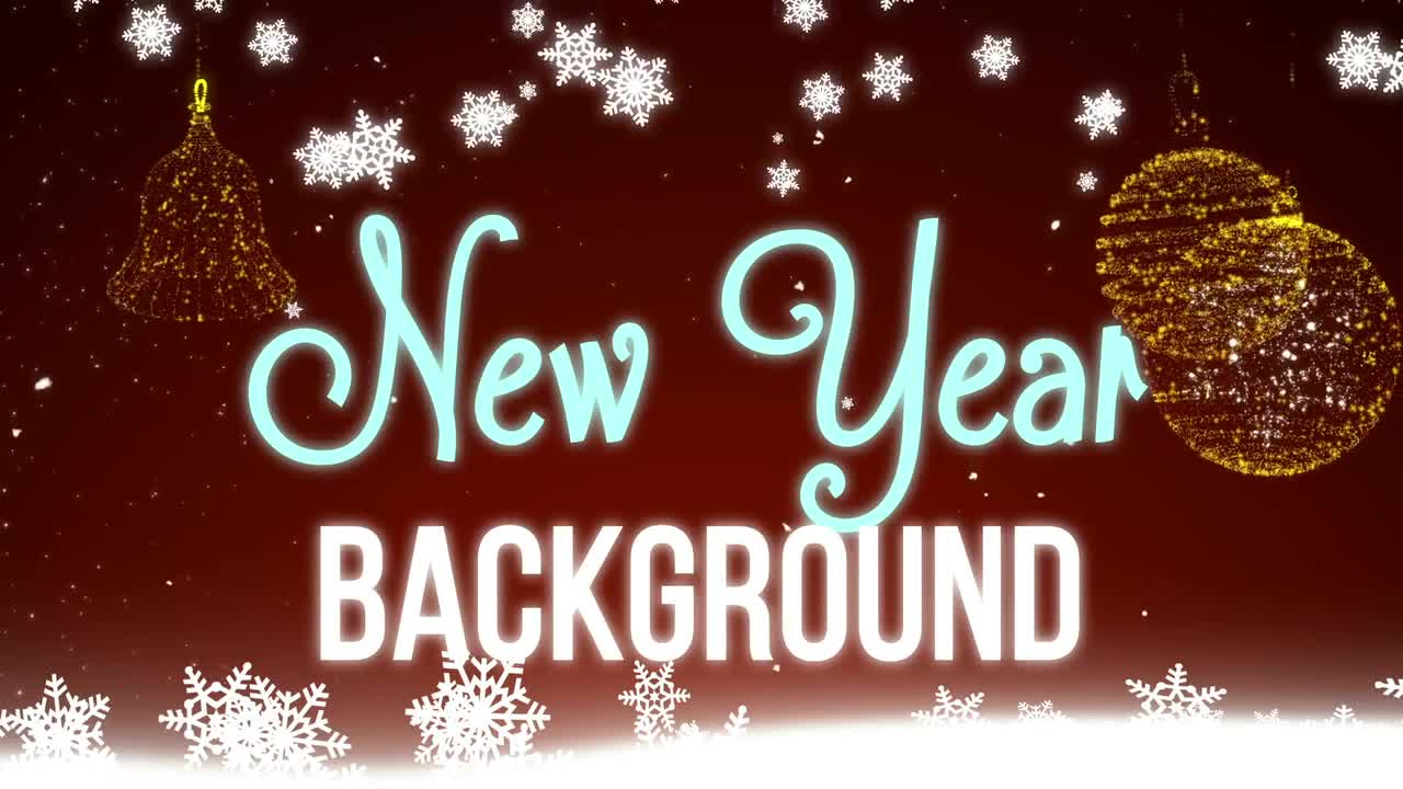 New Year Snowflakes Red Background 151278